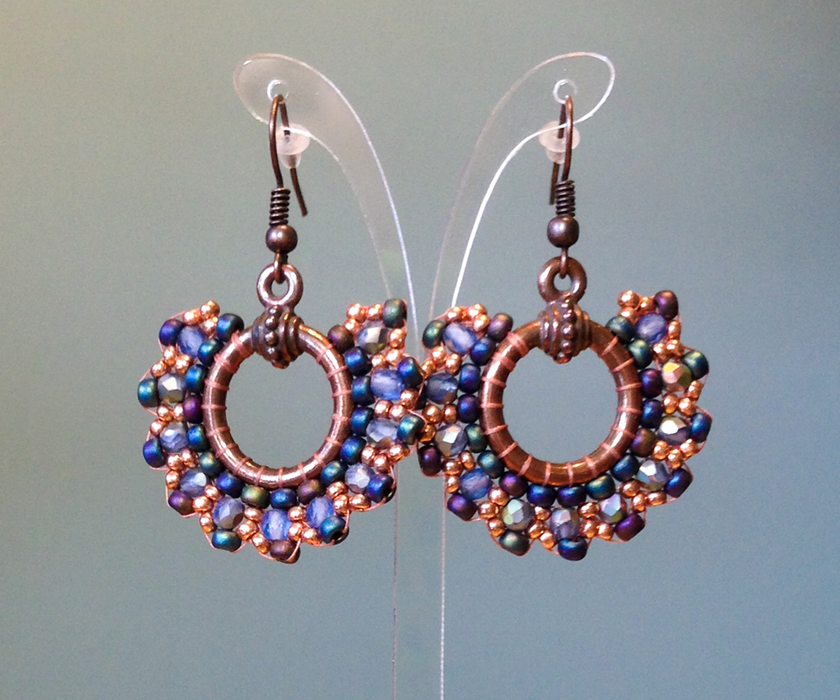Stitched Salsa Earrings
