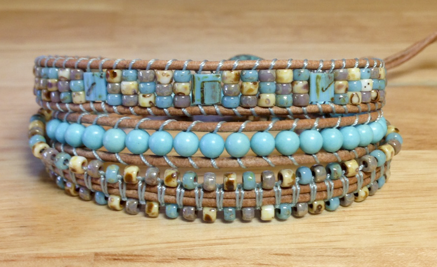 Beach color wrap bracelet