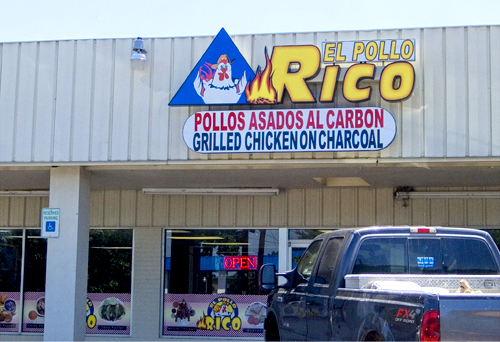 Front of Pollor Rico restaurant in Round Rock