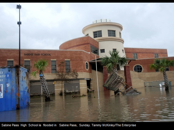 Sabine Pass High School after Hurricane Rita