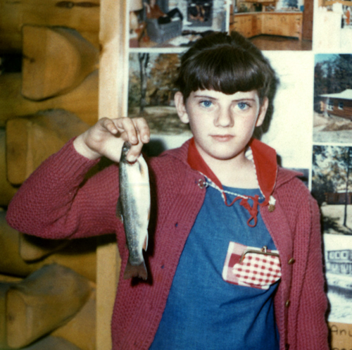 Me holding a trout I caught at the 1964 World's Fair Me holding a trout I caught at the 1964 World's Fair in New York