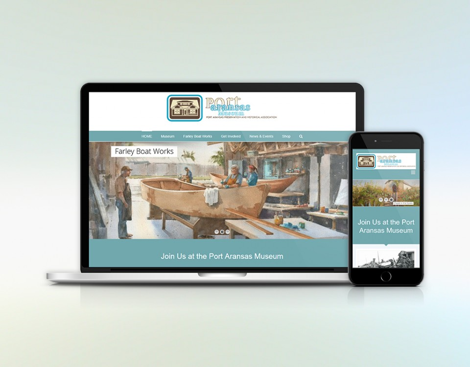 Mockup of Port Aransas Museum Website