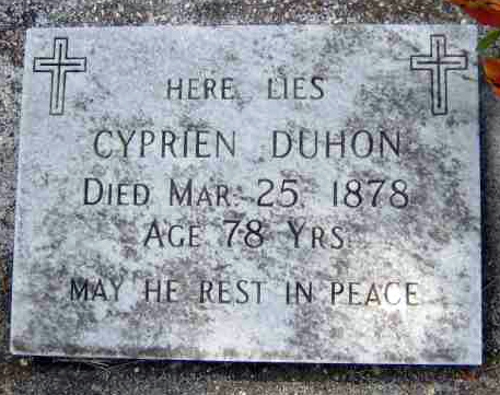 Sunday's Obituary: Cyprien Duhon – Peace to His Ashes